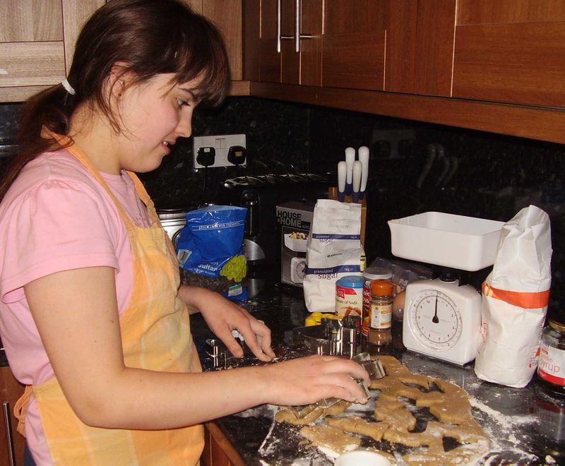 Baking gingerbread 6 11 08