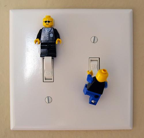 Suddenly, Roger was aware of literal the switches were