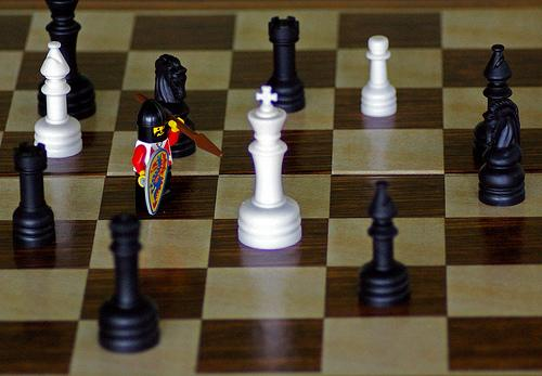 With the king checkmated, Ferdinand went in for the kill