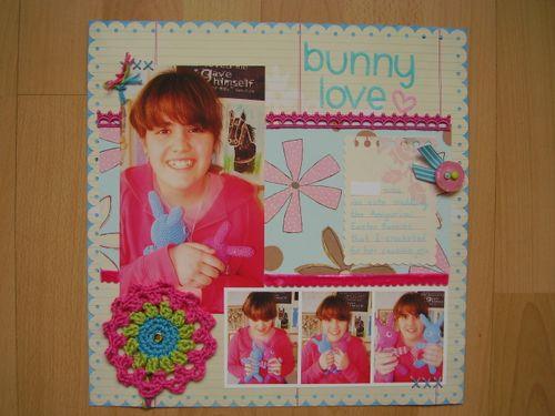 Bunny Love scrapbook LO april 09