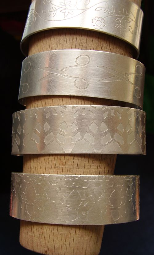 4 finished bangles