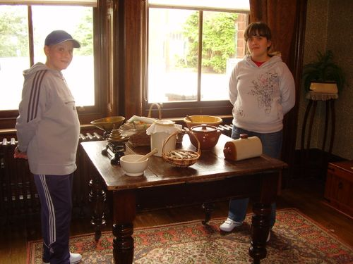 Twins in Housekeepers room at Haden Hill House Museum