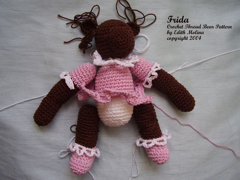 Crochet Teddy Bear ready to sew together