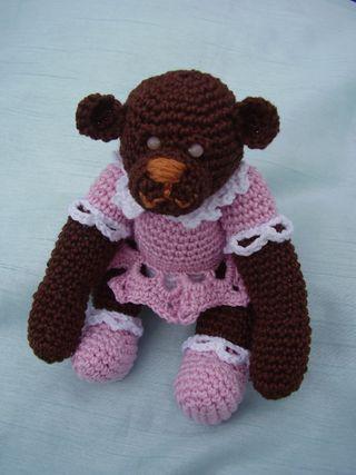 Crochet Teddy Bear Sitting