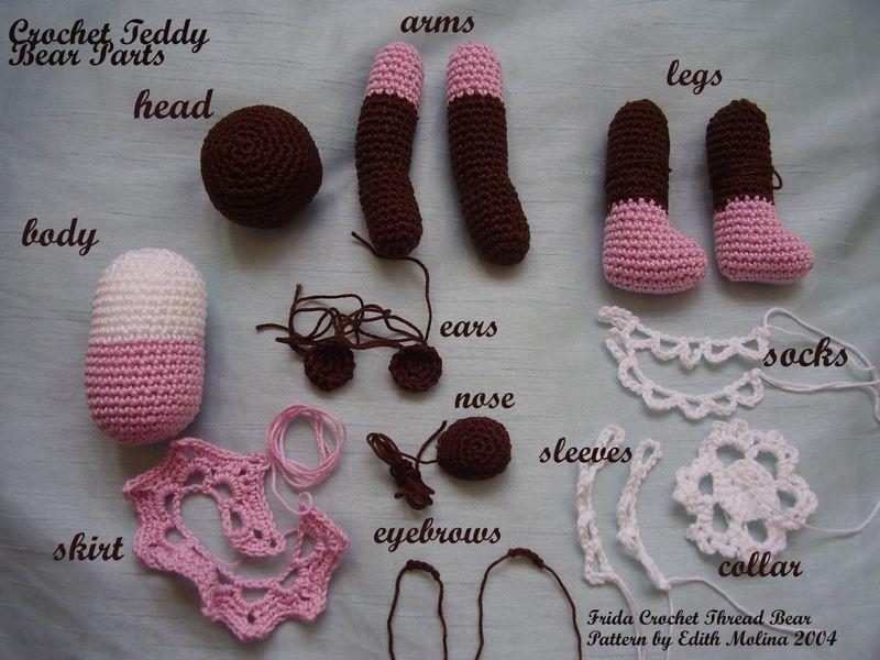 6ichthusfish Little Crochet Teddy Bear