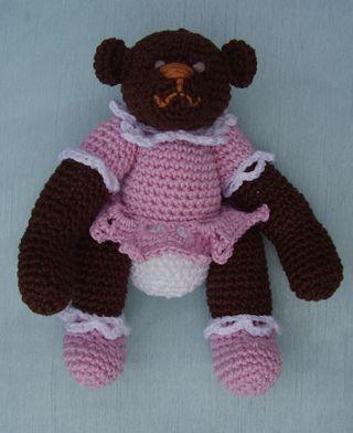 Crochet Teddy Bear lying down