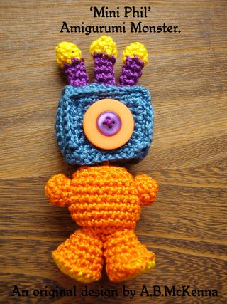 Amigurumi Cookie Monster Pattern : 6ichthusfish: Free Pattern for my Amigurumi Monster...
