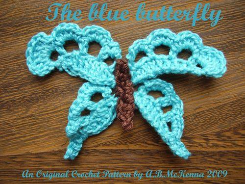 Crochet blue butterfly title pic