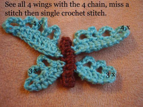Crochet butterfly pic 8