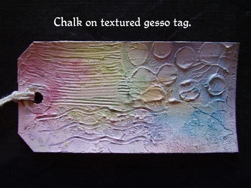 Chalk on gesso tex tag