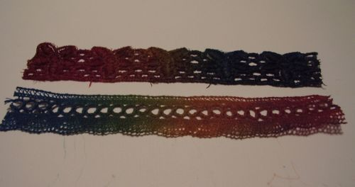 Lace dyed with glimmer mist