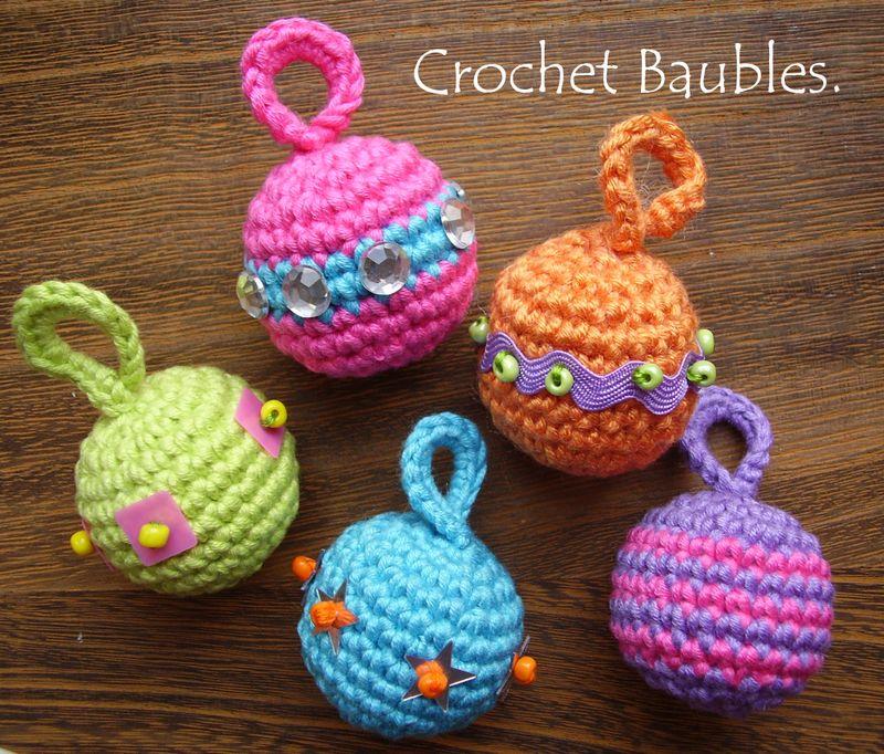 Pic 1 crochet baubles