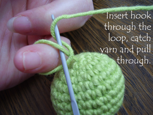 Pic 19 pull yarn through loop