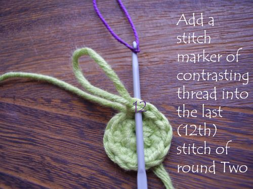 Pic 6 add a stitch marker
