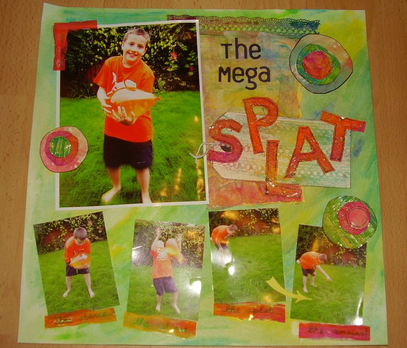 The mega splat scrapbook LO
