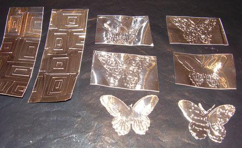 Tinfoil tape cuttlebug butterflies