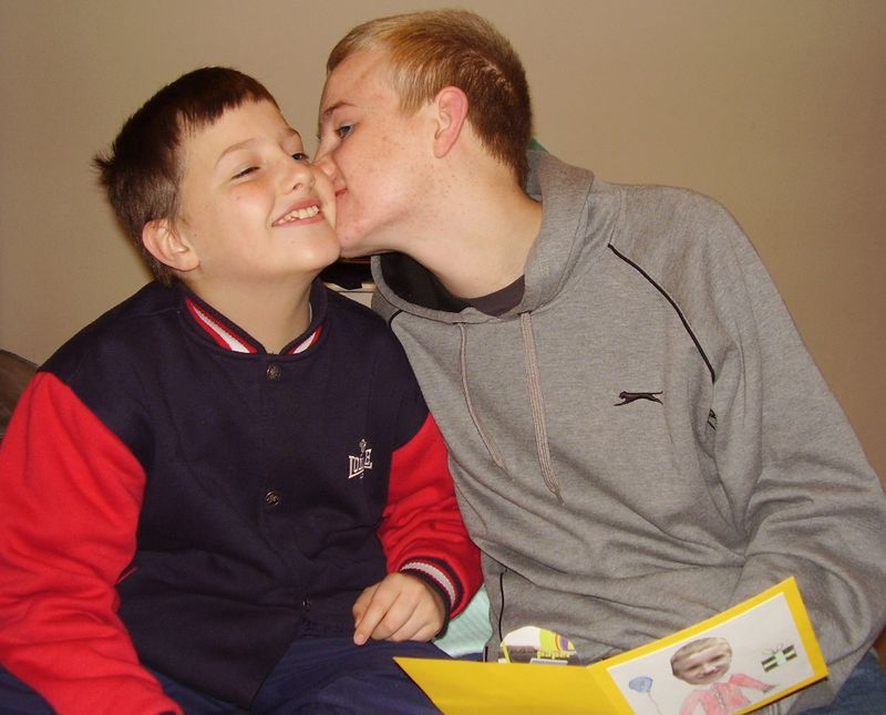 Kisses little bro