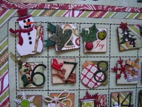 Advent calendar close up designed by Sue
