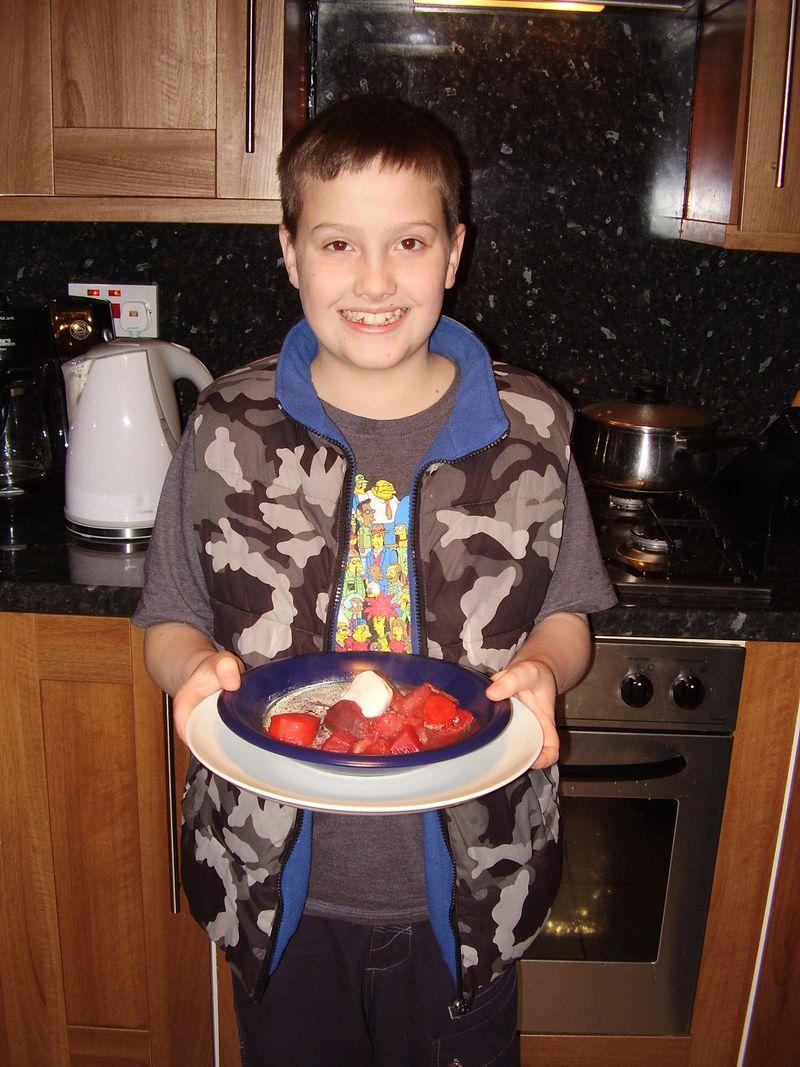 A boy and his Borscht Soup