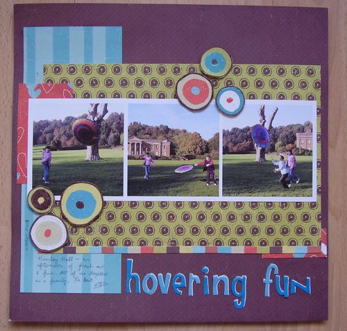 Scrapbook layout hovering fun web