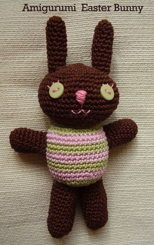 Amigurumi crochet Easter Bunny Rabbit pattern web