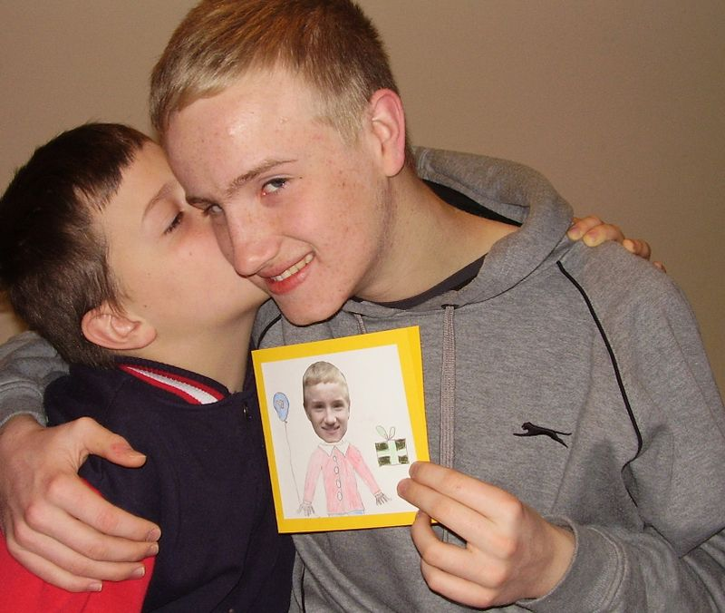 Kisses big bro