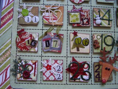 Advent calendar close up 2 designed by Sue