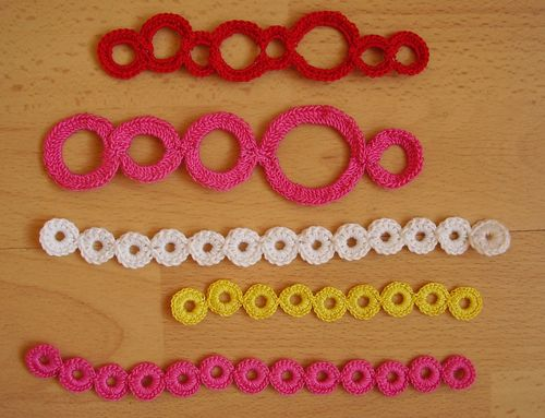Crochet over metal washers and wire