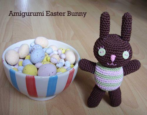 Pretty Bunny amigurumi in pink dress - Amigurumi Today | 392x500