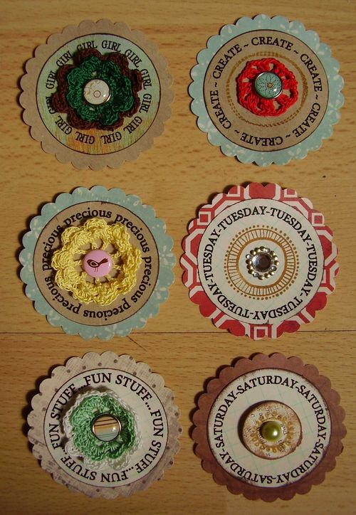 Scrapbook scallop embellishments 1