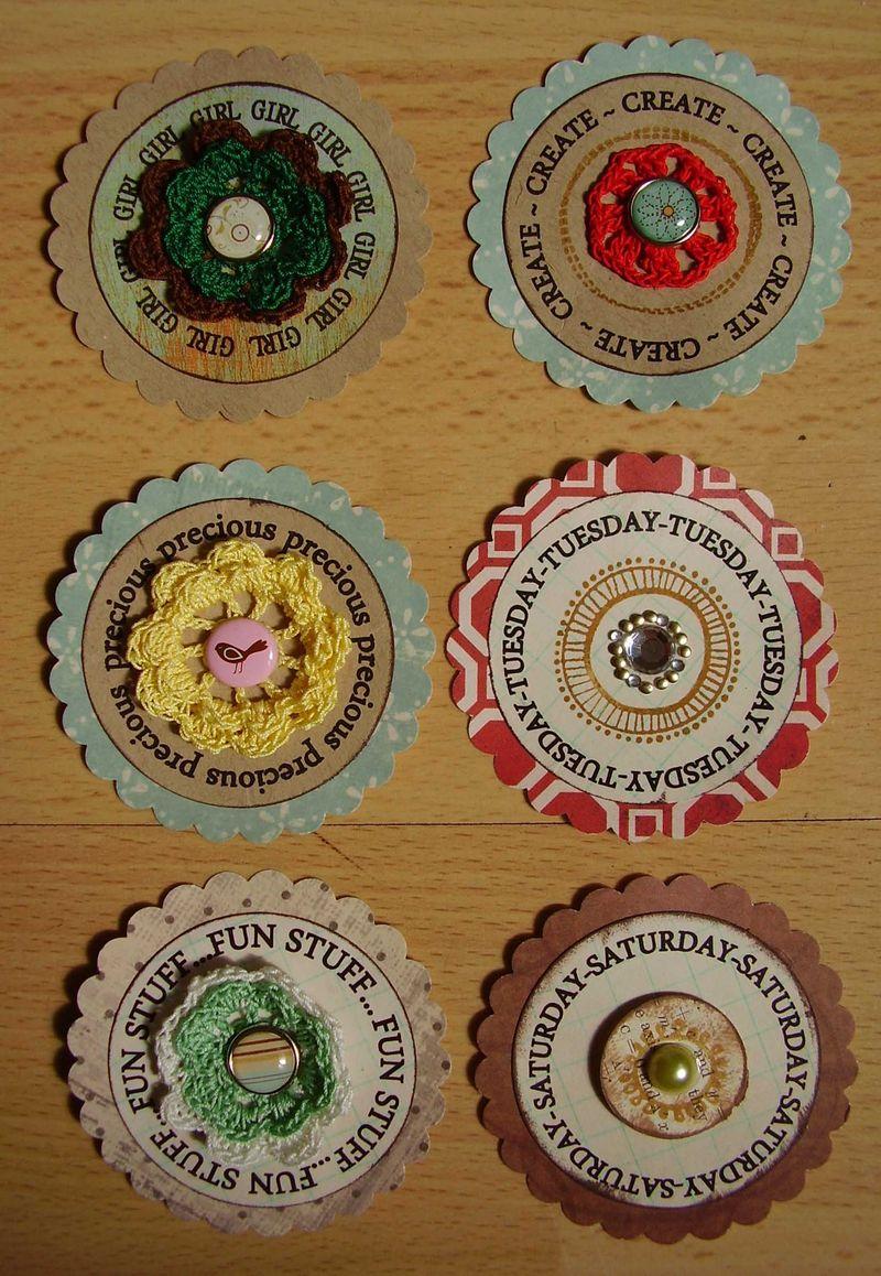 Scrapbook scallop embellishments 1