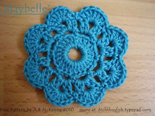Maybelle free pattern crochet flower web