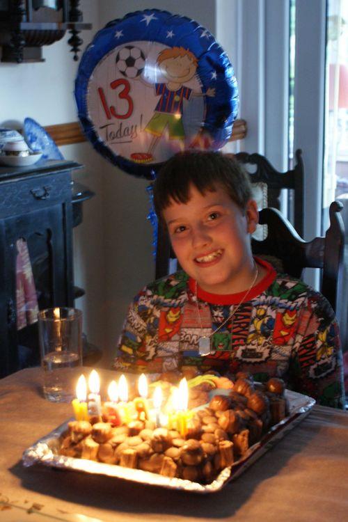 Lit candles cake web