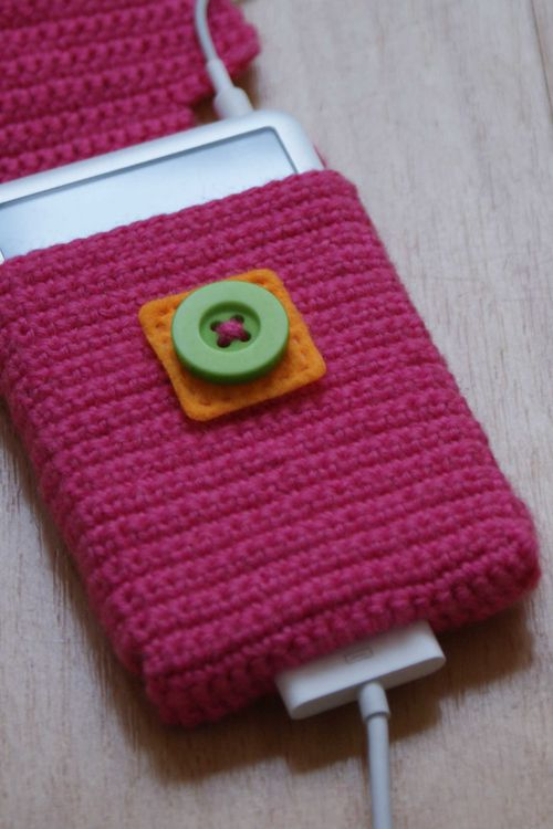 Crochet i pod case flap open web