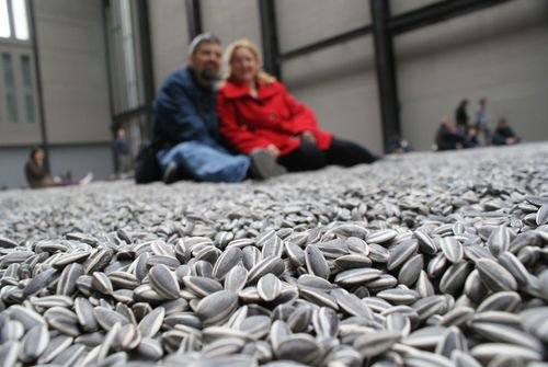 Tate Modern sunflower seeds 2 sitters web