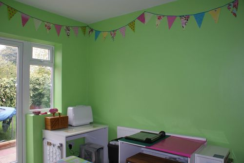 Craft room sewing corner and trimmer table web