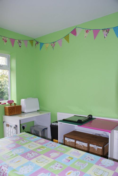 Craft room sewing corner and trimmer table 2 web