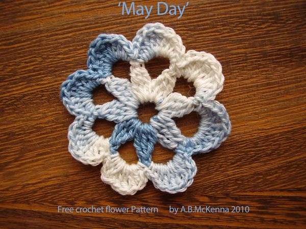 6ichthusfish May Day Crochet Flower Free Pattern