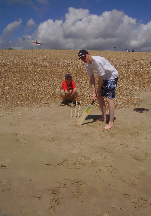Beach batting web