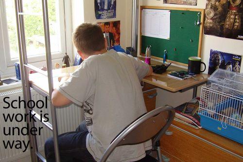 Schoolwork underway web