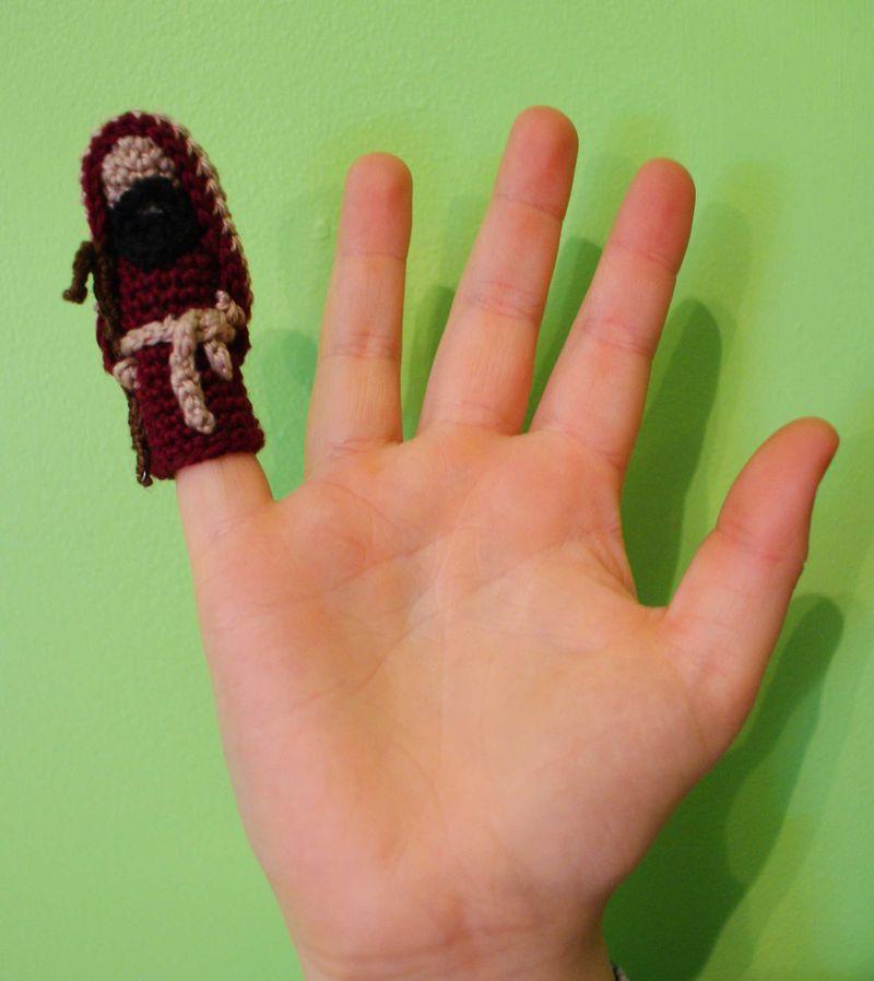 Shepherd finger puppet web