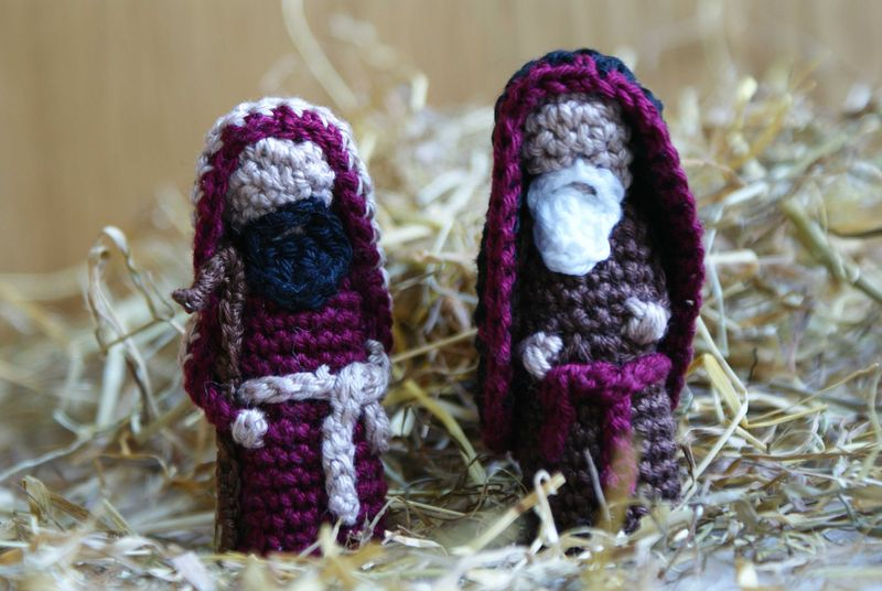 Crochet Shepherds part of Nativity Set web