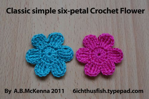 6ichthusfish Free Crochet Flower Pattern