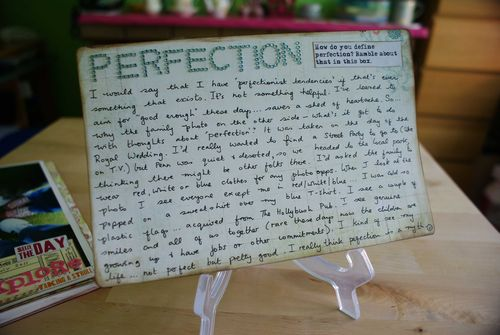 Day 4 perfection words web