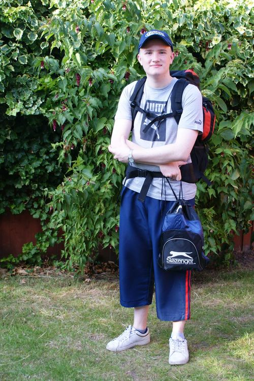 Backpack on web
