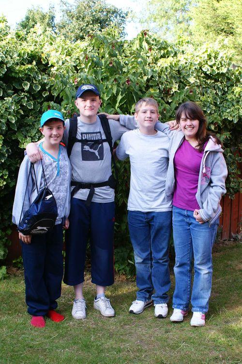 Goodbye sibs in garden web