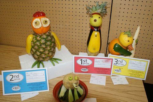 Funny fruit and veg web