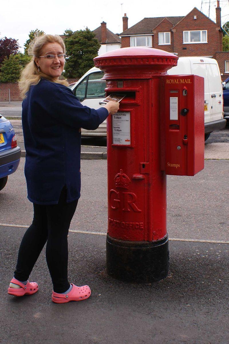 Shimelle day 2 posting postcard web