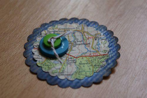 Map embellishment double button web