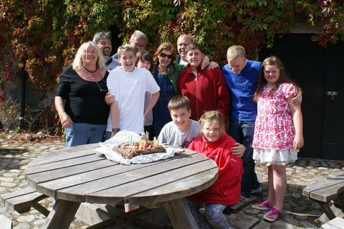 Canoe birthday cake group shot web